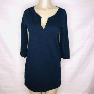 J. Crew  blue knit tunic dress